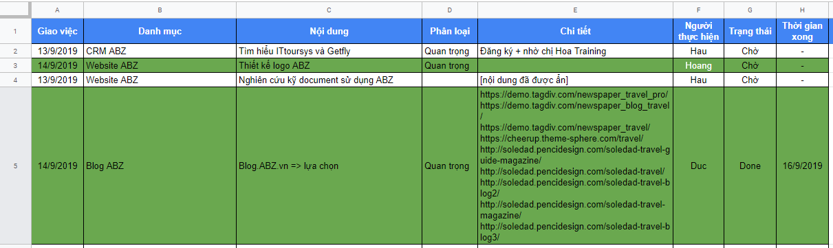 Workspace for all: hay việc Ứng dụng Google Sheet A-Z 9